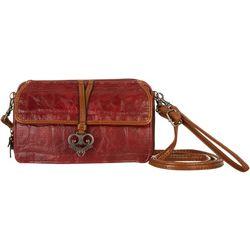 Bueno Front Flap & Heart Charm Multi-Function Handbag