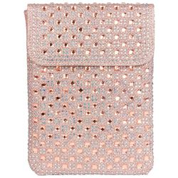 D'Margeaux Rose Pink Cell Phone Crossbody Handbag
