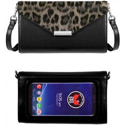 Save The Girls Timeless Leopard Print Cell Phone Handbag