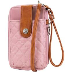 Mundi Jacqui Quilted Pattern Hands Free Crossbody Wallet