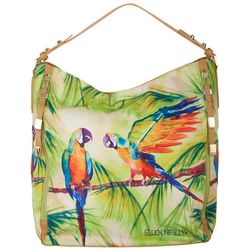 Ellen Negley Tropical Gossips Hobo Handbag