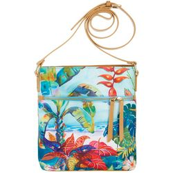 Ellen Negley Florida Print Crossbody Handbag