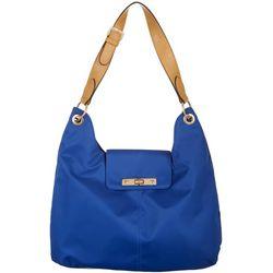 Ellen Negley Florida Printed Lining Hobo Handbag