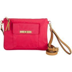 Ellen Negley Florida Solid Cross Lock Crossbody Handbag