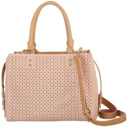 Dawn Davis Flowers For Lauren Blush Satchel Handbag