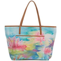 Dawn Davis Water Lily Love Tote Handbag