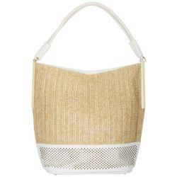 Tackle & Tides Woven Raffia Hobo Handbag