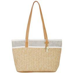 Tackle & Tides Woven Raffia Tote Handbag