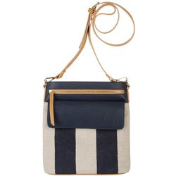 Tackle & Tides Nautical Striped Crossbody Handbag