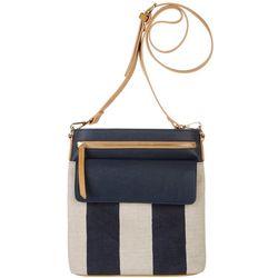 Tackle & Tides Nautical Striped Crossbody Handbag