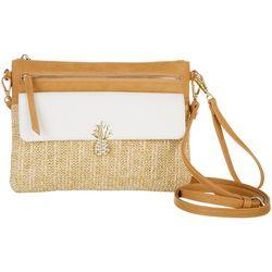 Tackle & Tides Woven Pineapple Crossbody Handbag