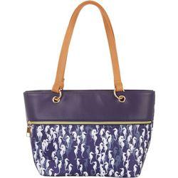 Tackle & Tides Sea Horse Print Tote Handbag