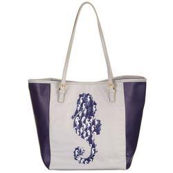 Tackle & Tides Large Sea Horse Print Tote Handbag