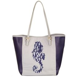 Tackle & Tides Large Sea Horse Print Tote Handbag