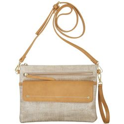 Tackle & Tides Metallic Linen Embossed Crossbody Handbag