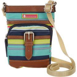 Lily Bloom Spritzer Stripe Mini Crossbody Handbag