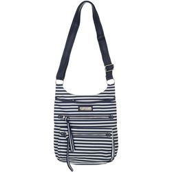 Lily Bloom Ivy Stripe Crossbody Handbag