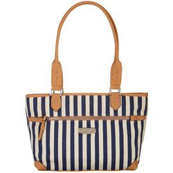 Rosetti Striped Janet Tote Handbag
