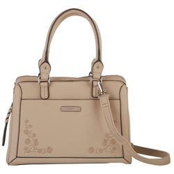 Rosetti Crimini Embroidered Double Handle Satchel Handbag
