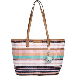 Tessa Striped Tote Handbag