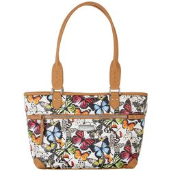 Rosetti Marble Butterfly Wings Janet Tote Handbag