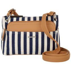 Gilda Herringbone Stripe Crossbody Handbag