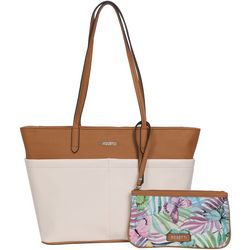 Tessa Two Tone Tote Handbag