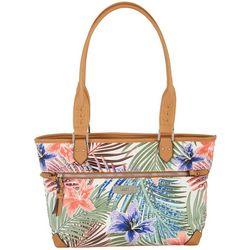 Rosetti Palm Print Janet Tote Handbag