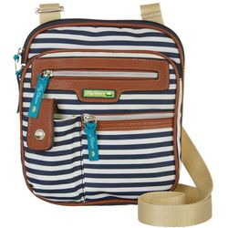 Lily Bloom Gigi Navy Blue Stripe Crossbody Handbag