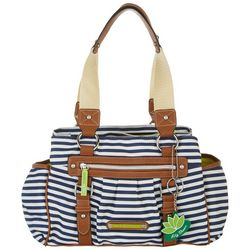 Lily Bloom Landon Navy Stripe Satchel Handbag