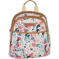 Lily Bloom Chantal Sea Garden Backpack Handbag
