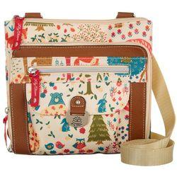 Lily Bloom Dailey Forrest Print Crossbody Handbag