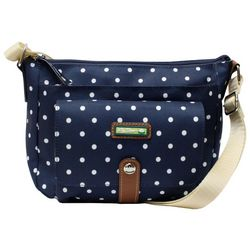 Lily Bloom Navy Blue Polka Dot Christina Crossbody Handbag