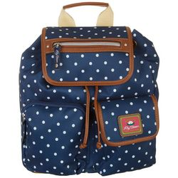 Lily Bloom Riley Polka Dot Navy Blue Backpack