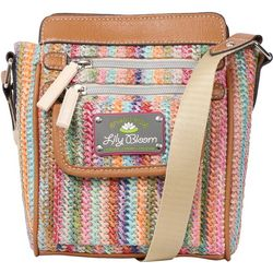 Lily Bloom Jamie Party Favor Straw Crossbody Handbag