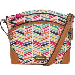 Lily Bloom Uma Fruity Stripe Crossbody Handbag
