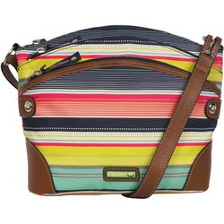 Lily Bloom Uma Stripes Crossbody Handbag