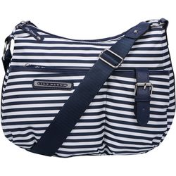 Lily Bloom Kathryn Navy Stripes Hobo Handbag