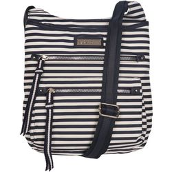 Lily Bloom Ivy Navy Stripes Crossbody Handbag
