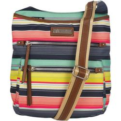 Lily Bloom Ivy Spritz Stripes Crossbody Handbag