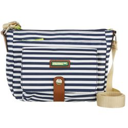 Lily Bloom Navy Blue Stripe Christina Crossbody Handbag