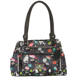 Lily Bloom Maggie Meow We Roll Satchel Handbag