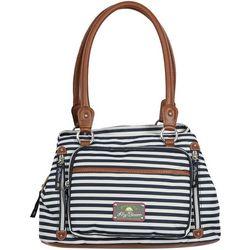 Lily Bloom Maggie Stripes Satchel Handbag