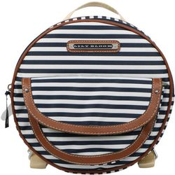 Lily Bloom Rebecca Navy Blue Stripes Backpack Handbag