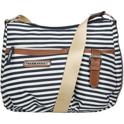 Lily Bloom Kathryn Navy Blue Stripes Hobo Handbag