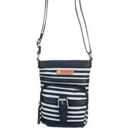Lily Bloom Mia Stripes Mini Crossbody Handbag
