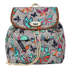Lily Bloom Butterfly Print Backpack Handbag