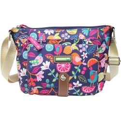 Lily Bloom Christina Fruit Floral Birds Crossbody Handbag