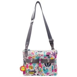 Lily Bloom Cactus & Hedgehog Crossbody Handbag