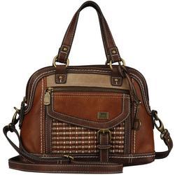 Amherst Tri-Tone Satchel Handbag